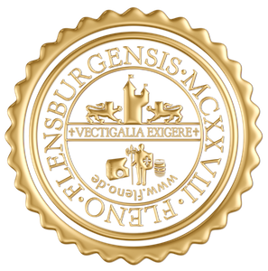 Seal of Fleno • Golden • Vectigalia Exigere • Flensburgensis